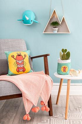 Lobster cushion for seaside bedroom