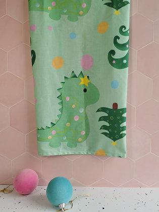 Christmas Dinosaur Tea Dish Towel