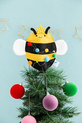Felt bee Christmas tree topper