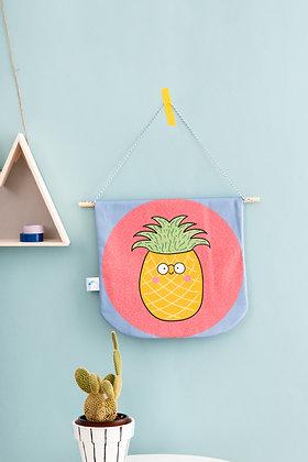 Pineapple fabric banner