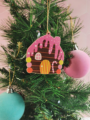 Sweety house wooden Christmas decoration
