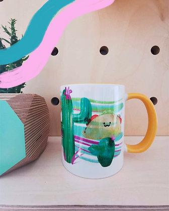 Taco and cacti mug.  Mexican themed gift