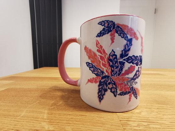 Rattle snake plant mug