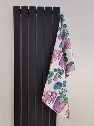 House plant tea towel design