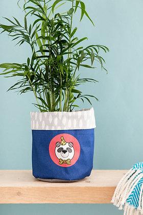 Fabric panda plant pot cover