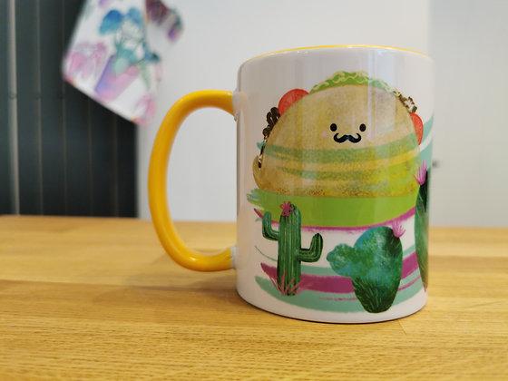 Yellow taco mug