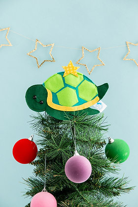 Felt turtle tree topper