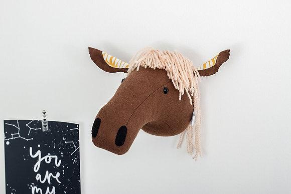 Faux taxidermy horse head