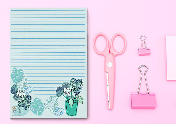 A5 monstera plant tear off note pad