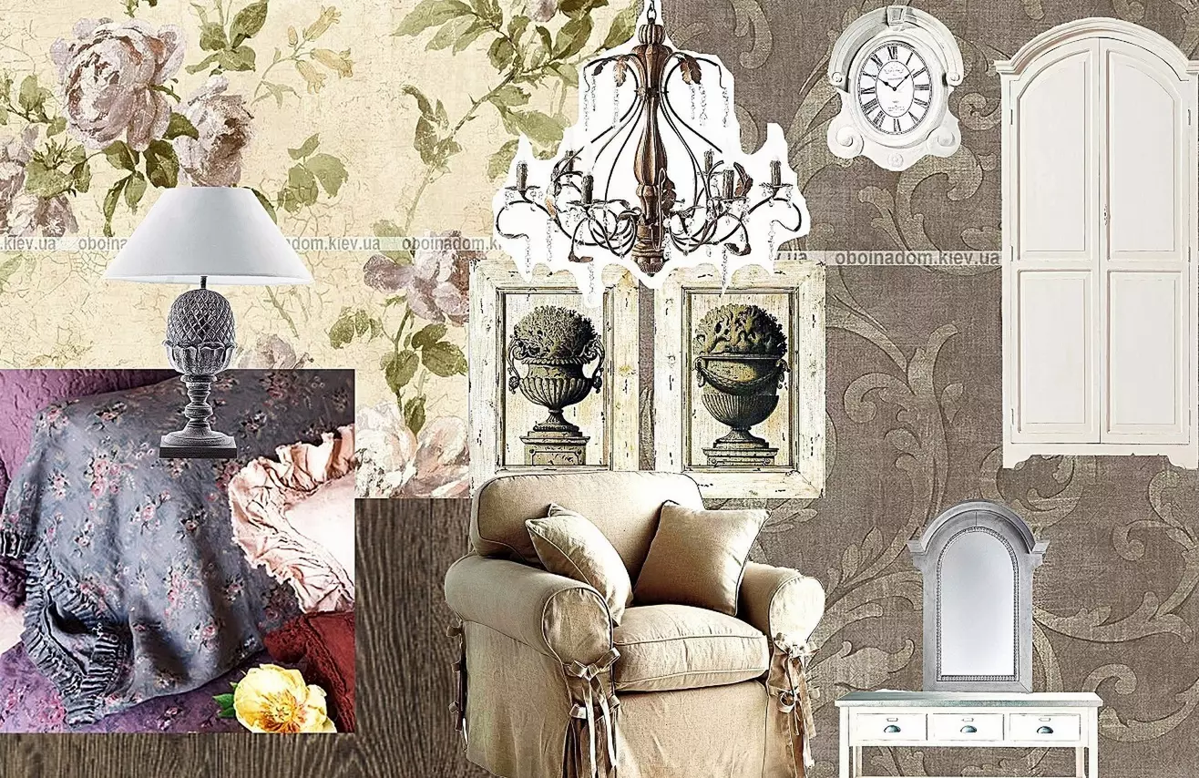 Коллаж. Спальня в классическом стиле.
