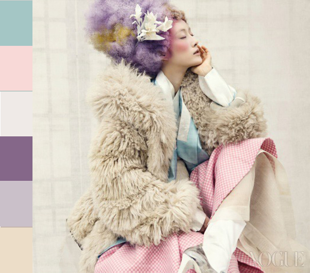 «Vogue» Korea. Clothes in powdered colors.