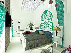 3D визуализация. Cпальня в восточном стиле