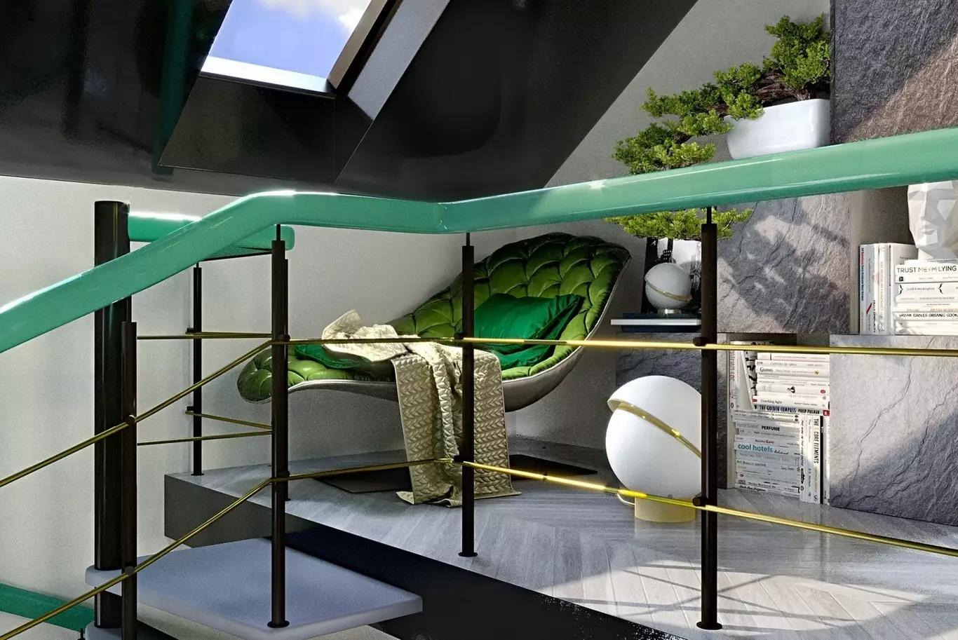 Уголок для отдыха с зеленым с креслом-шезлонгом Bohemian от @morosofficial