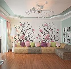 3D визуализация. Светлая гостиная..