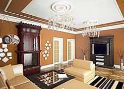 3D визуализация. Классическая гостиная