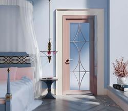 3D визуализация.Спальня в нежной цветовой палитре