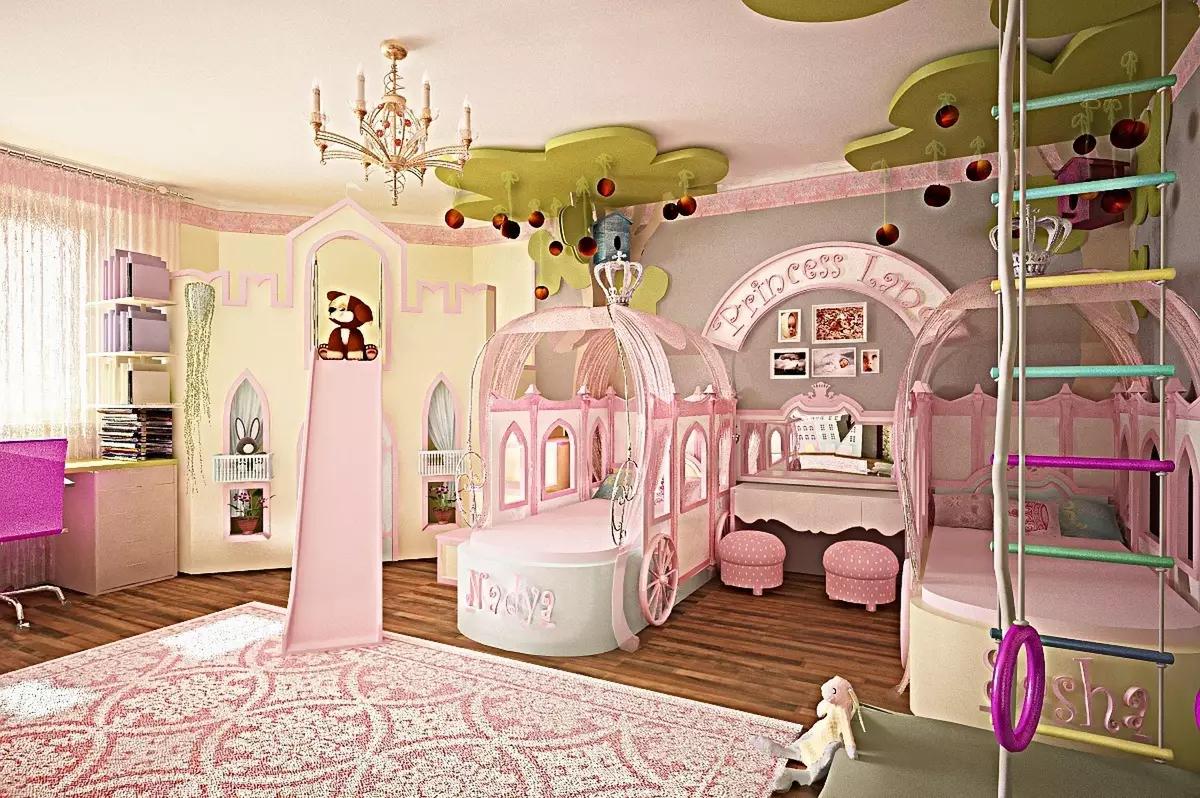 3D визуализация. Детская для принцесс