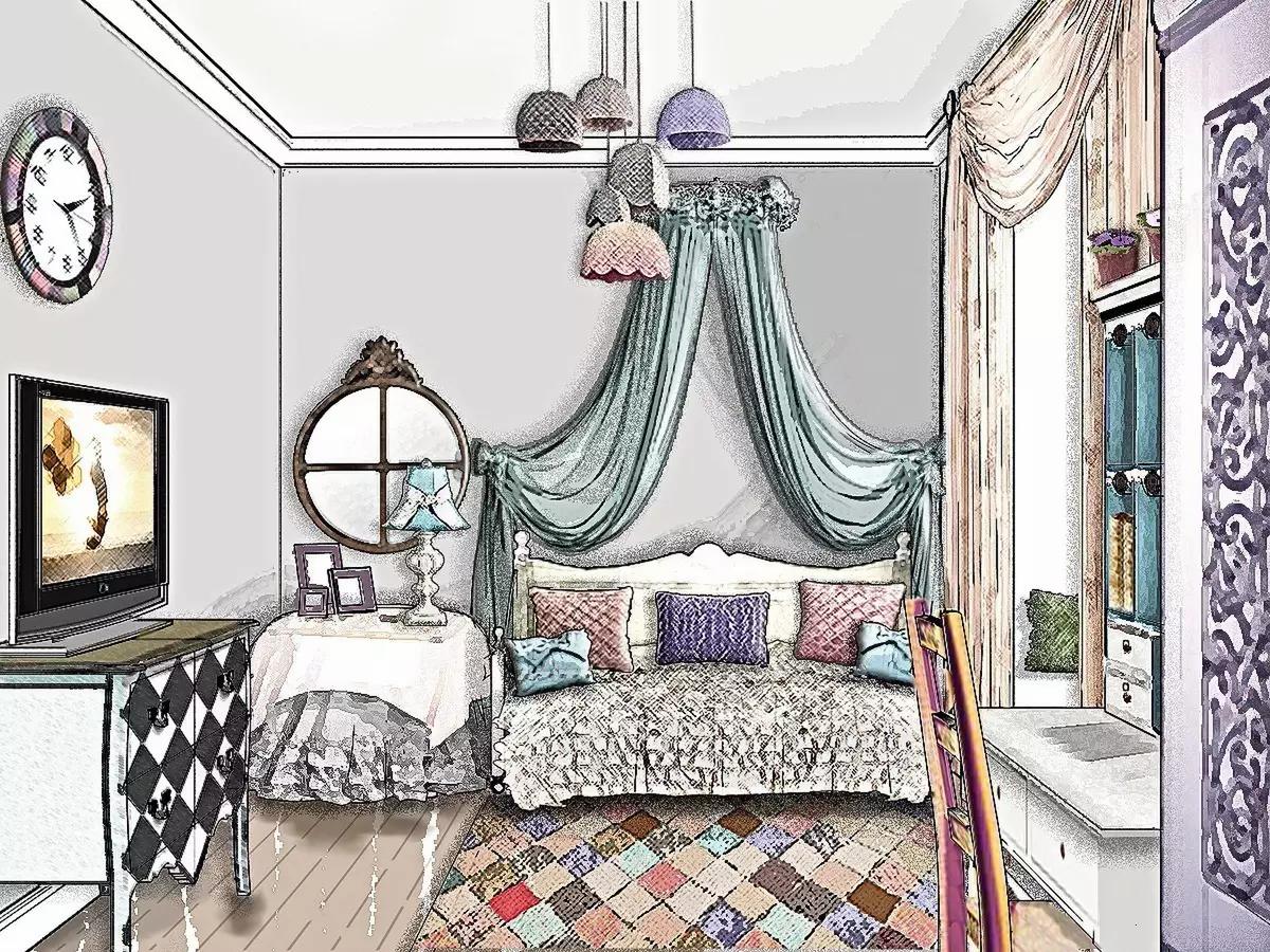 3D Скетч. Комната для девочки