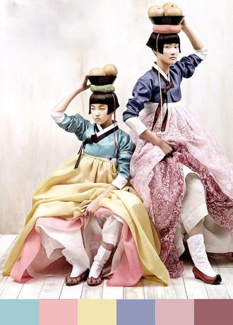 Вдохновение цветом.       Корейский ханбок