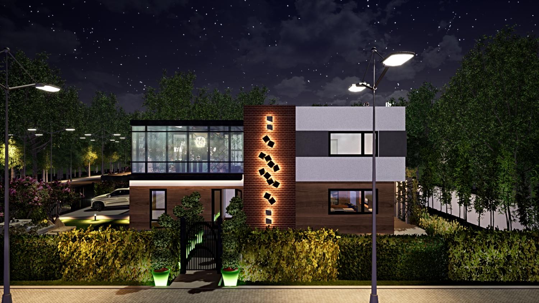 3D визуализация. Дизайн экстерьера частного дома