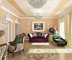 3D визуализация. Классическая гостиная с камином