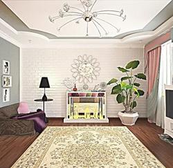 3D визуализация. Светлая гостиная.