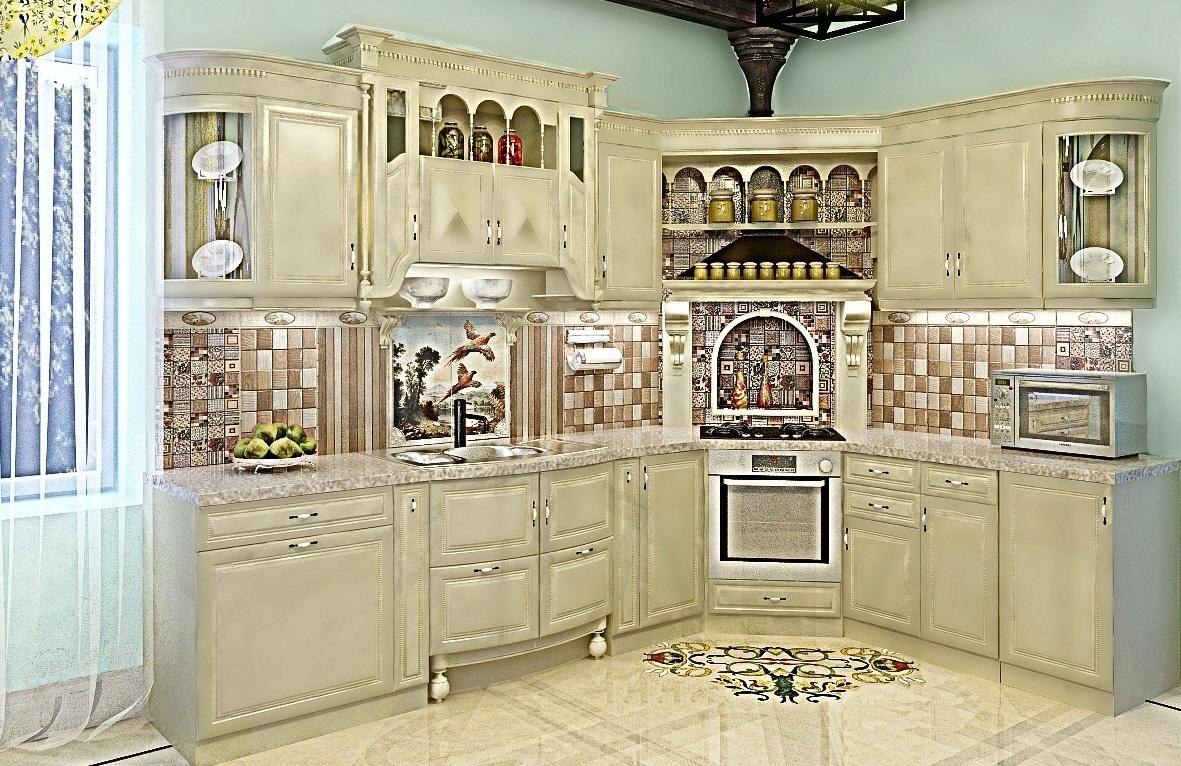 3D визуализация. Классическая кухня