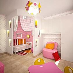 3D визуализация. Детская для малышки.