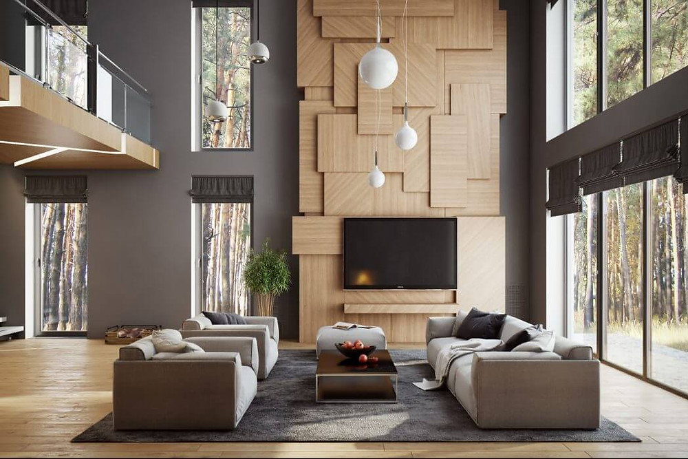 A properly designed room, depending on its size, always has one or more focal points. The focus should be dominant, grabbing attention and arousing the viewer's interest. Thus, the focus should make a lasting impression and should become an integral part of the decor, related to style, color, scale or theme. A fireplace or flat-panel TV is the first thing that comes to most people's minds when we talk about the focal point of a room.