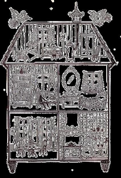 Домик в разрезе. Картинка, дизайн интерьеров в Одессе