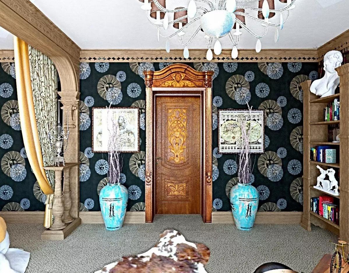 3D визуализация. Классическая спальня с кабинетом