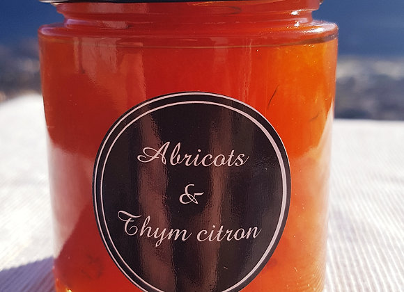 Confiture abricots, thym citron