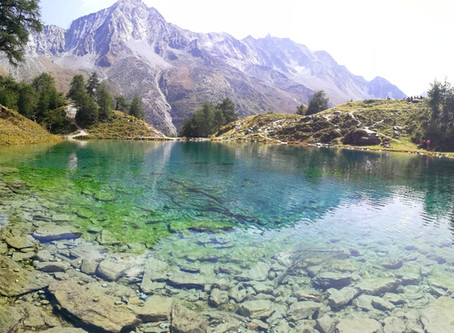 Le Lac Bleu, de bleu!