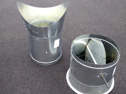 conical pipe saddle duct take off