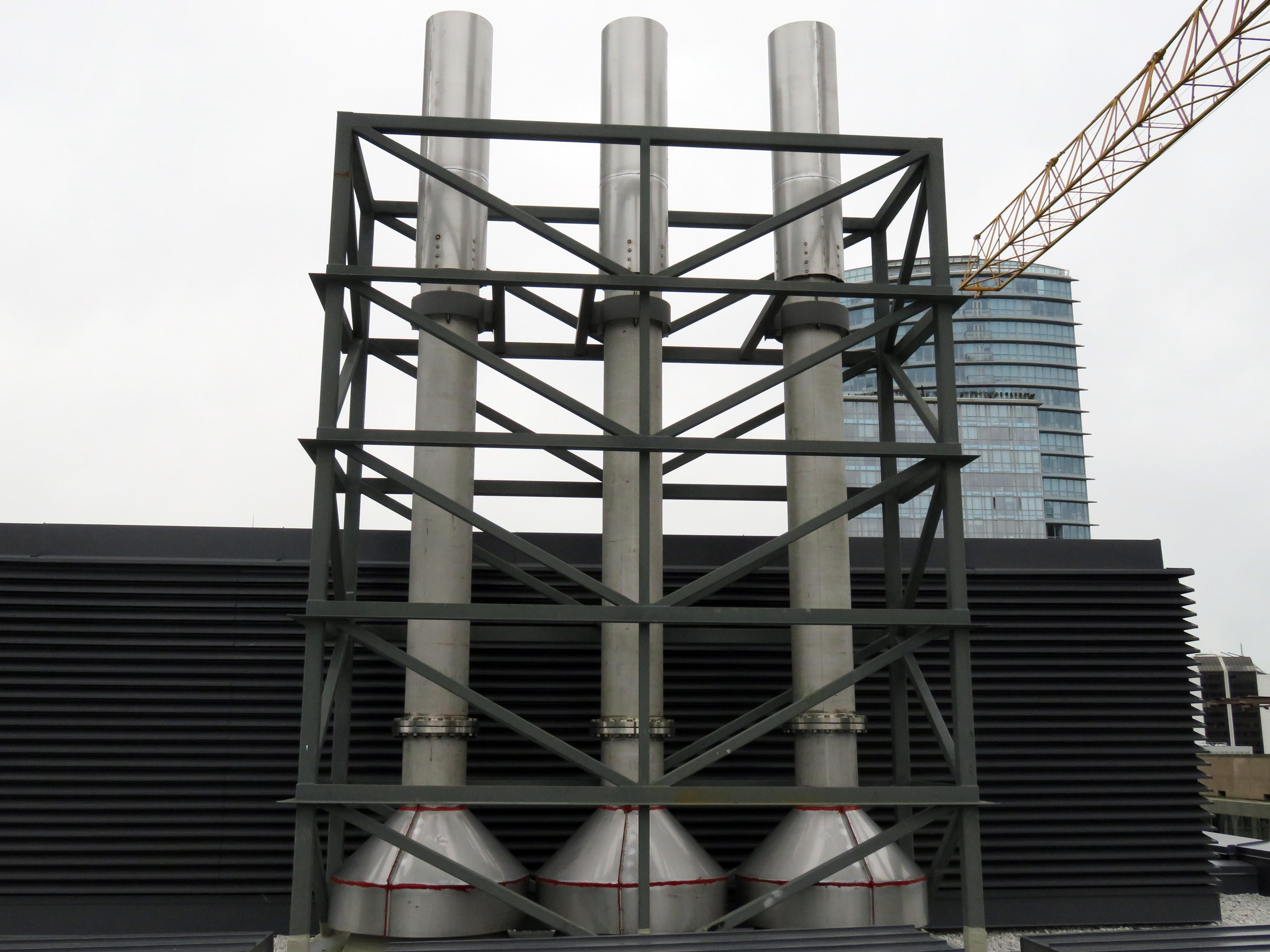 Telus Turbine SS exhaust stacks