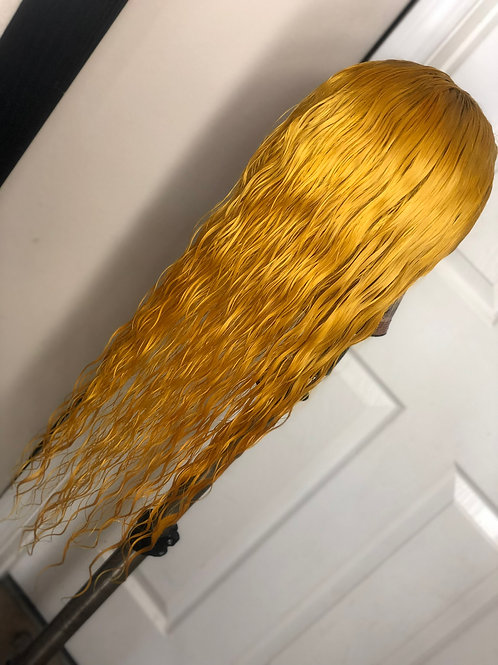 Yellow Passion Lace Front Wig