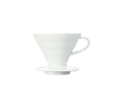 Hario - V60 brygger keramikk hvit 02