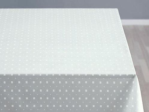 Södahl - Duk damask 140x320cm optisk hvit