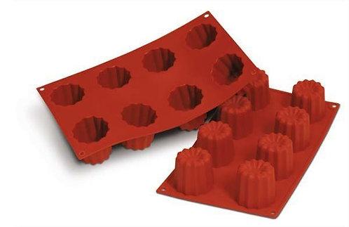 Silikomart - Bakeform Canelès 8 hull silikon