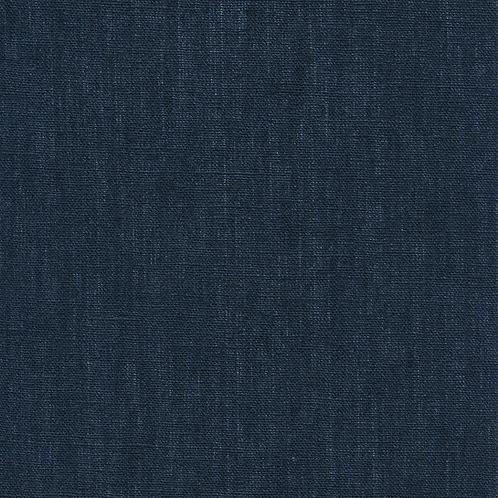 Au Maison - Voksduk metervare lin oxford blue