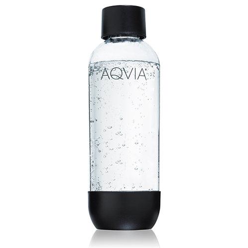 Aga - Aqvia vannflaske til kullsyremaskiner 1L sort