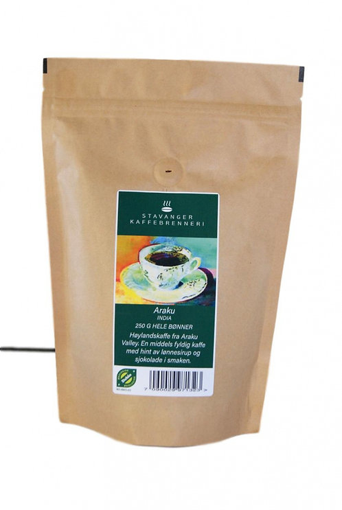 Stavanger Kaffebrenneri - India Araku Økologisk 250g hele bønner