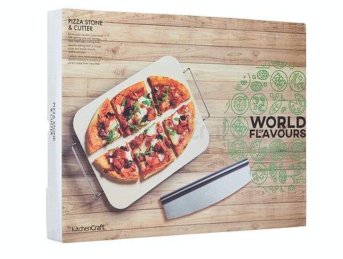 KitchenCraft - Pizzastein 37,5x30cm