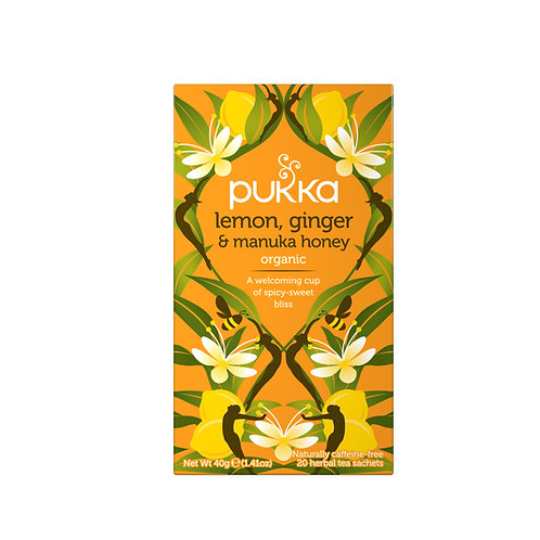 Pukka - Lemon, Ginger & Manuka Honey te
