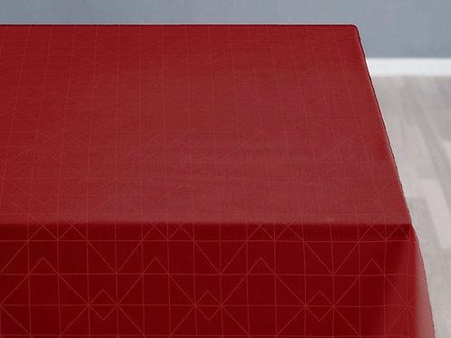Södahl - Duk damask 140x320cm refined red