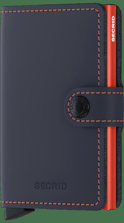 Secrid - Lommebok matte nightblue & orange