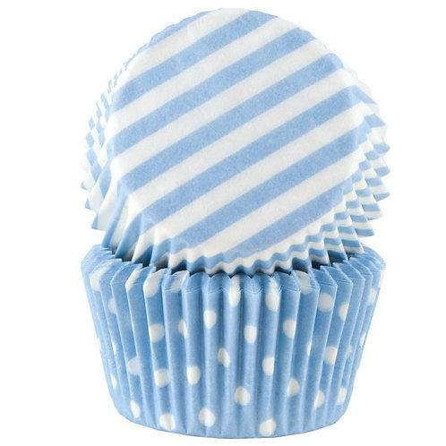 Cacas - Muffinsform blå pastell assortert