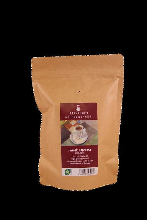 Stavanger Kaffebrenneri -  Økologisk espresso franskbrent 250g hele bønner