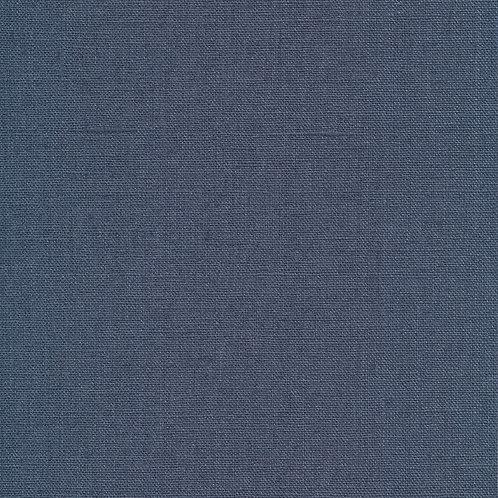 Au Maison - Voksduk metervare lin denim blå