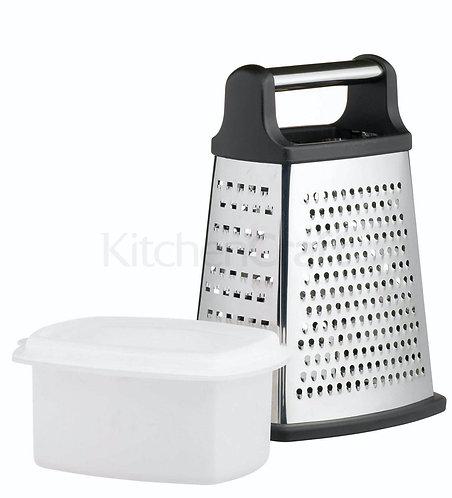 KitchenCraft - Rivjern boks 4 sider m/ oppsamlingsboks